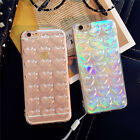 3D Holographic Glitter TPU Crystal Back Phone Case Cover For Apple Smart Phone