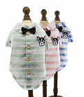 Stripe Bowknot Summer  Dog Pet Shirt Pet Cat Shirt Clothing for Pet XS S M L XL