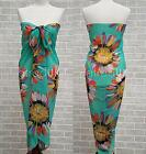 DAISY FLORAL PRINT CHIFFON SARONGS SUNFLOWER BEACH SWIMWEAR SARONG COVER-UP WRAP