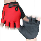 Red Cycling Glove Bike Bicycle Antiskid Wearable Sports Half Finger Gloves