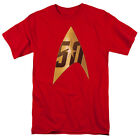 Star Trek Original Series 50TH ANNIVERSARY DELTA Red T-Shirt All Sizes