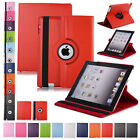 Leather Rotating Protective Kickstand Soft Case For iPad 2/3/4 Mini 1/2/3 Air 2