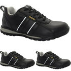 MENS WOMENS LEATHER LIGHTWEIGHT COMPOSITE TOE CAP SAFETY WORK SHOES TRAINERS SZ