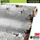 METRO SERIES SATIN WHITE 3D RUST Vinyl Vehicle Car Wrap Film Sheet Roll Decal