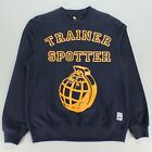 Trainerendor Grenade Crew Neck Sweatshirt Navy Sizes L