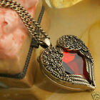 Hot! Angel Wing Red Heart Shape Necklace Accessories Pendant