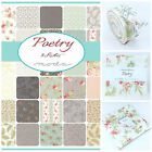 MODA Poetry by 3 sisters  100 % cotton fabric charm pack, jelly roll layer cake