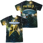 Star Trek Original Series 50th Anniv Enterprise 2-Sided Big Print Poly T-Shirt