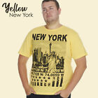 Mens Plus Size T-Shirt Trendy Top Summer Holiday Cotton American Printed Stylish