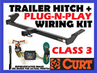 Curt Trailer Hitch & Vehicle Wiring Harness Fits 89-95 Toyota Pickup 13086 55379