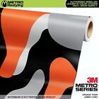 camouflage vehicle wrap - JUMBO ORANGE TIGER Camouflage Vinyl Vehicle Car Wrap Camo Film Sheet Roll