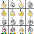 316L Steel Diffuser Locket Pendant Aromatherapy Essential Oil Perfume Necklace