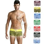 2017 Men Stripe Bikini Boxer Brief Short Pouch Swimwear Dryfit Underwear CA