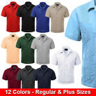 Guayabera Short Sleeve Mens Cuban Shirt Wedding Cigar Beach Bartender Casual