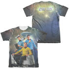 Star Trek Original Series KIRK SPOCK MCCOY 2-Sided Print Poly Cotton T-Shirt