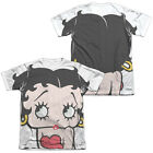 Betty Boop BIG BOOP HEAD 1-Sided Sublimated Big Print Poly Cotton T-Shirt $31.83 USD