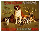 Historic Vintage Advertisement Reprint Art: KENNEL CLUB DOG SHOW Poster Print $11.99 USD