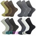 6/12 Pack Mens Socks Non Elastic Assorted Lot 100% Cotton Rich Ankle Rib Long