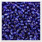 20g - 100g Silver Lined Blue Seed beads Size 11/0. JM28