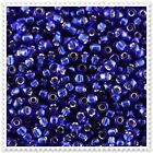 20g - 100g Silver Lined Blue Seed beads Size 11/0. WITH FREE GIFT JM28