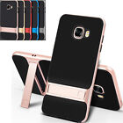 Black TPU PC Shockproof Phone Back Case Cover with Stand for Samsung Galaxy C5