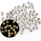 100/500pcs Silver/Golden Plated Round Ball Spacer Beads Jewelry Making DIY 4-8mm