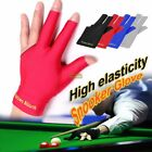 Spandex Pro Pool Snooker Billiard Cue Gloves Left Hand Three Finger Indoor Games