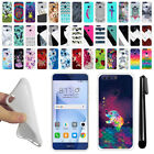For Huawei Honor 8 Various Design TPU SILICONE Soft Protective Case Cover + Pen