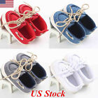 US 0-18M Baby Boy Girl Newborn Soft Soles Canvas Crib Soft Sole Shoe Sneakers