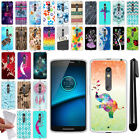 For Motorola Droid MAXX 2 XT1565 2nd Gen TPU SILICONE Soft Case Phone Cover +Pen