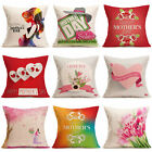 Happy Mother's Day Festival Pillow Case Sofa Bed Home Decor Cushion Cover Throw