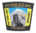 CRIPPLE CREEK COLORADO CO Police Patch GOLD MINE PICK AX SHOVEL MYLAR ~