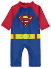 Baby Boys Superman All in One Swimsuit Sun Protection UV40+ Sunsafe NEW BNWT