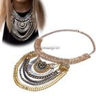Women Vintage Boho style Exaggerated Dangle Multi Chain Necklace NC8901