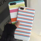 Summer Fashion Colorful Stripes Soft TPU Back Case Cover for iPhone 6/6S/7 Plus