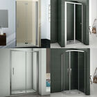 700/760/800/900/1000mm Shower Enclosure Bifold Pivot Door Walk In Glass Screen