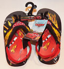 NEW Disney Cars Sandals Flip Flops With Heel Strap TODDLER Size 9/10 OR 11/12