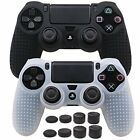 PS4 PlaySation 4 Anti Slip Silicone Cover Skin For Controller x2  Grips x8 New