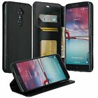 ZTE Design Wallet Credit Card ID With Kick Stand Flip Cell Phone Case Cover