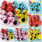 Cute Painted Duck Buttons 20mm x 16mm 4 colours Sold Per 5 Great for Craft