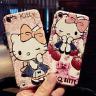Cute Cartoon Hello Kitty Soft PU Leather iPhone Case For 6 6s Plus 7 7 Plus