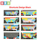 Functional Shortcut Printed Keyboard Cover Skin for MacBook Air Pro Retina 13 15