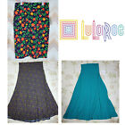 NEW LULAROE Simply Comfortable Azure Midi Maxi Skirt Green Purple Pink Floral