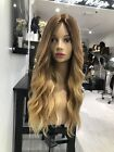 100% 6A Brazilian Remy Human Hair Wigs Long Wavy Ombre Lace Front Full Lace Wigs