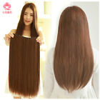 Full Thick Straight one Piece Clip In Remy Human Hair Extensions 100% real 20''