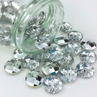 Beautiful Acrylic Diamante Buttons (Style 2) 2 hole 2 Sizes Sold per 5 buttons