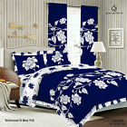 Duvet Cover with Pillow Case Quilt Cover Bedding Set Frilled Edge -RICHMOND BLUE