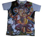 Mens Mirror T Shirt Ganesh Hindu Boho Colourful Dope Trippy Hippy Rare Cotton M