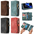 CaseMe Magnetic Cover Wallet Leather Case Slot Stand for Samsung S7 Edge S8 Plus