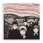 Poster Print Wall Art Edvard Munch Angst Square Painting Masterpiece Home Décor